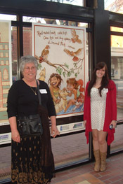 Jane Woodman, poet, and Morgan Spicer, artist.