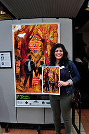 Artist Gabriella Silverstein at the Syracuse Poster Project 2017 Unveiling.