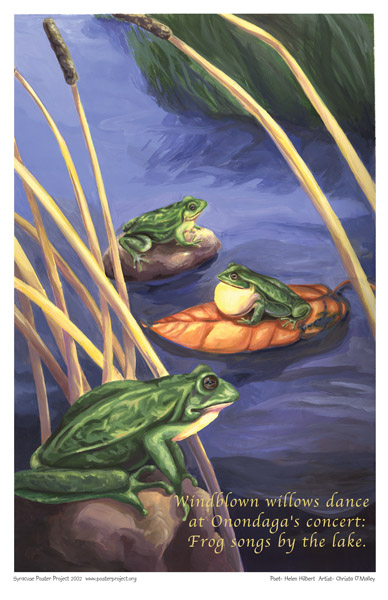 Syracuse Art Poster: Frogs on Onondaga Lake