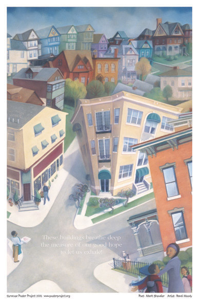 Syracuse Art Poster: Hawley Green neighborhood