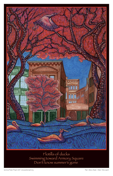 Syracuse Art Poster: Armory Square and Onondaga Creek