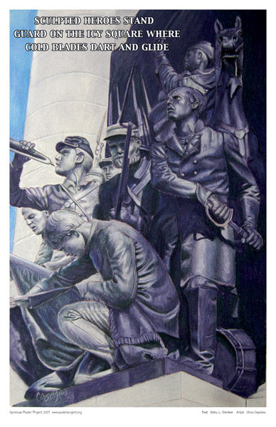 Syracuse Art Poster: Soldiers and Sailors Monument in Syracuse