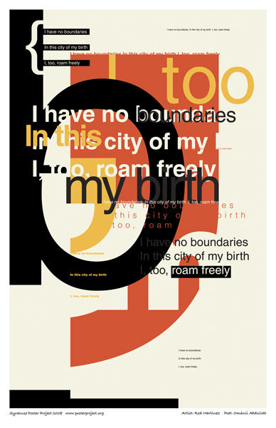 Syracuse Art Poster: Poet without boundaries