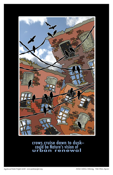 Syracuse Art Poster: Urban crows