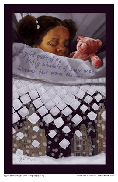 Syracuse Art Poster: Girl with teddy bear