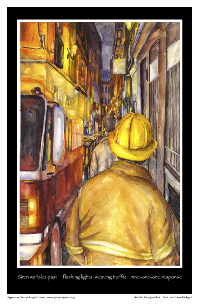Syracuse Art Poster: Syracuse Firemen and EMTs