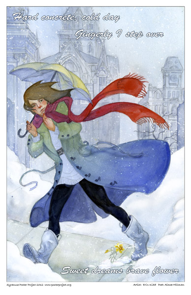 Syracuse Art Poster: Winter fashion in Syracuse