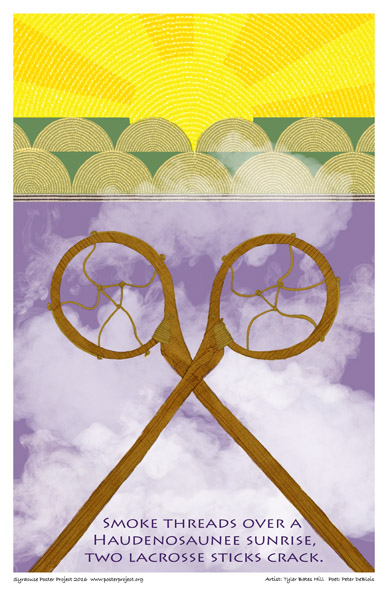 Syracuse Art Poster : Lacrosse Sticks in Air, Native American