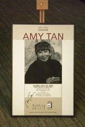Amy Tan Poster Autographed.