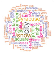 Syracuse Poetry Word Cloud