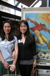 Xiangjun Yan and Wenhui Li, Syracuse University students.