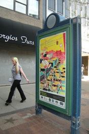 Syracuse Poster, Armory Square Scene.