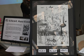 Silent Auction of Impovisational Drawing.