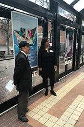 Vinh Dang, Nada Odeh, Syracuse Poster Project 2018 Unveiling.