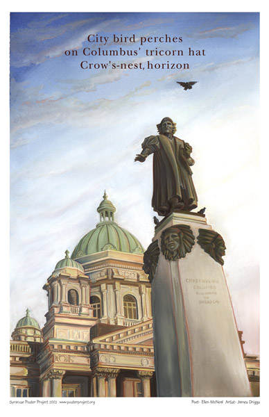 Syracuse Art Poster: Christopher Columbus monument