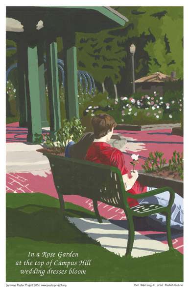 Syracuse Art Poster: Wedding at Thornden Park Rose Garden