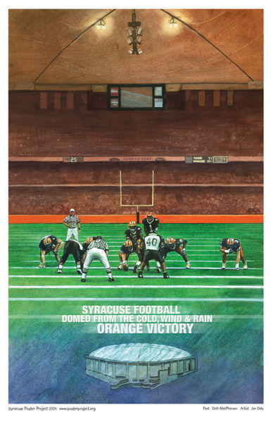 Syracuse Art Poster: Syracuse football with Dick MacPherson