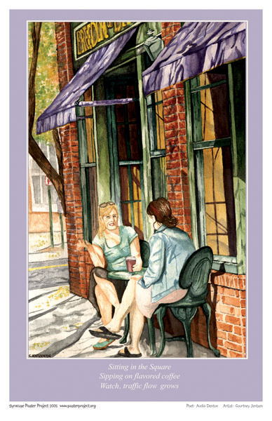 Syracuse Art Poster: Women at Armory Square cafe