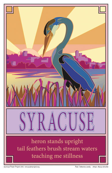 Syracuse Art Poster: Heron on Onondaga Lake