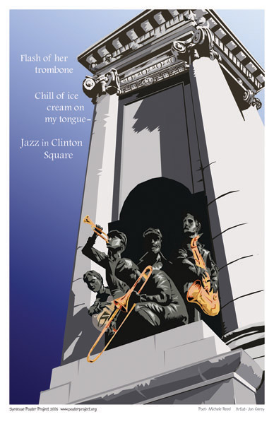 Syracuse Art Poster: Jazz in Clinton Square