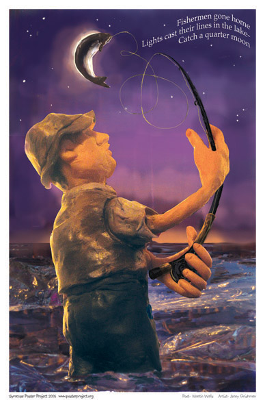Syracuse Art Poster: Fishing in Onondaga Lake