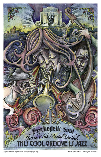 Syracuse Art Poster: Psychedelic jazz