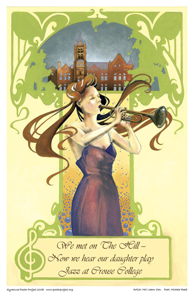 Syracuse Art Poster: Jazz at Crouse College
