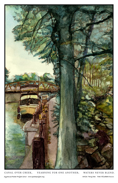Syracuse Art Poster: Erie Canal Aqueduct and Nine Mile Creek