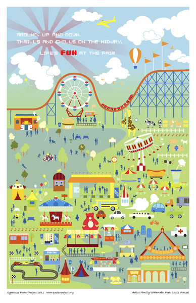 Syracuse Art Poster: New York State Fair