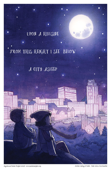Syracuse Art Poster : A City Asleep