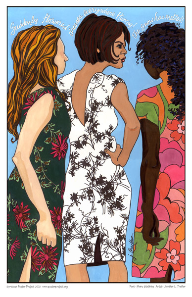 Art Poster, Syracuse, Spring, Women, Dresses