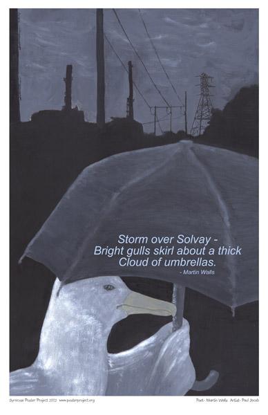 Art Poster, Syracuse, Seagull, Solvay, Storm, Umbrella