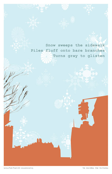 Art Poster, Syracuse, Snow, Winter