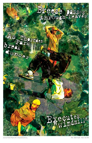 Art Poster, Syracuse, Break Dancing, Thornden Park