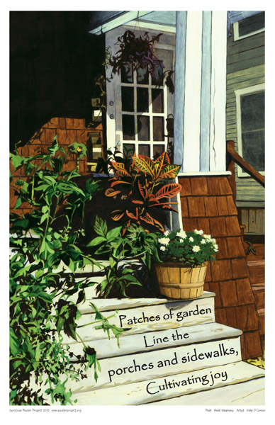 Art Poster, Syracuse, Garden, Porch