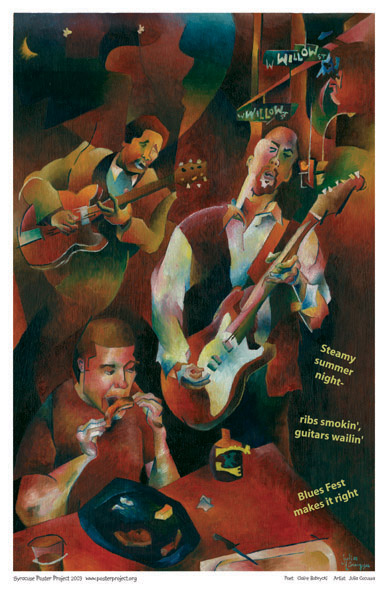 Art Poster, Syracuse, Blues Fest
