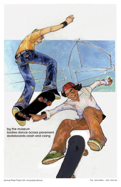Art Poster, Syracuse, Everson Musuem, Skateboarding