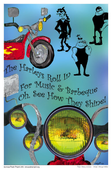 Art Poster, Syracuse, Motorcycle, Barbecue, Harley Davidson