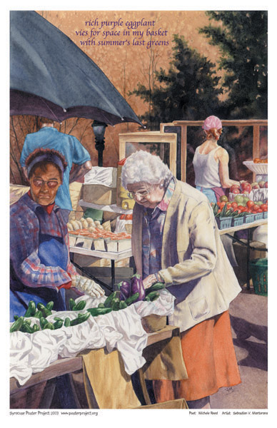 Downtown Farmer's Market, Art Poster, Syracuse