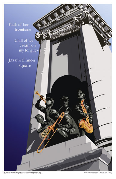 Art Poster, Syracuse, Clinton Square, Jazz, Summer Jazzfest