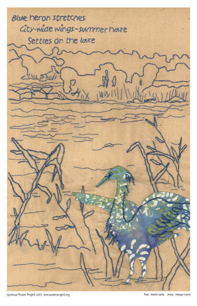 Blue Heron, Onondaga Lake, Art Poster, Syracuse