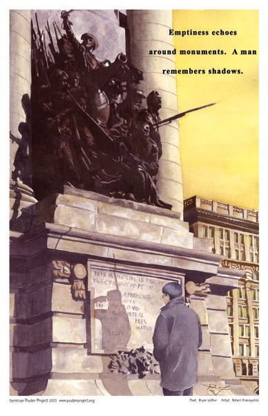 Art Poster, Syracuse, Civil War Monument, Clinton Square