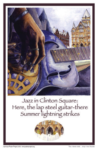 Art Poster, Syracuse, Jazz, Clinton Square, Guitar