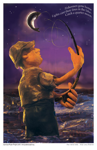 Art Poster, Syracuse, Fishing