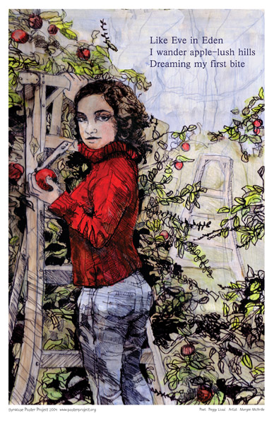 Apple Picking, Art Poster, Syracuse
