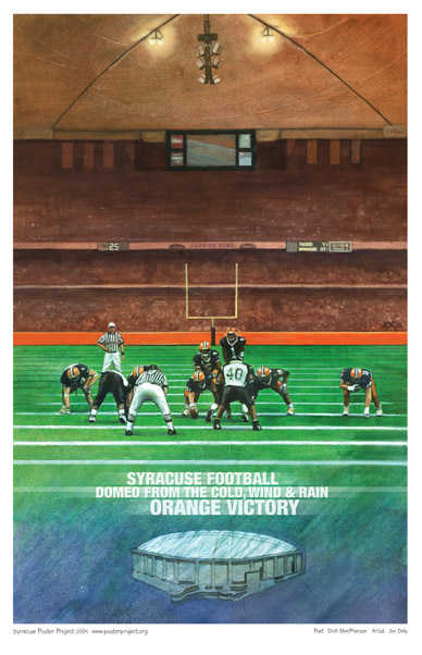 Art Poster, Syracuse University, Football, Carrier Dome