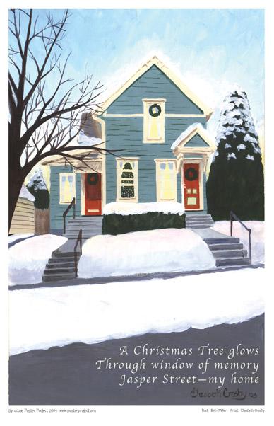 Art Poster, Syracuse, Winter, Christmas Tree