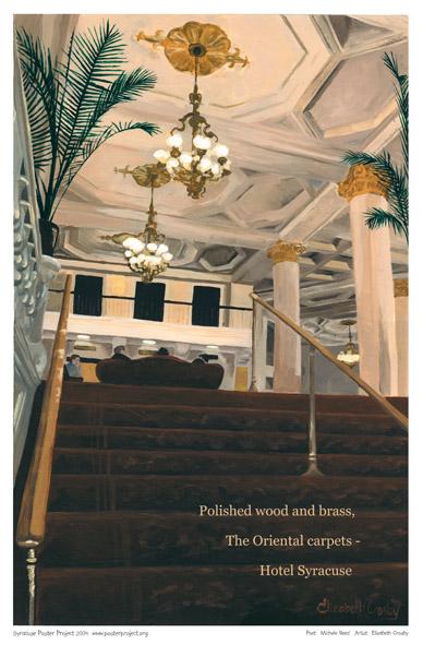 Art Poster, Syracuse, Hotel Syracuse