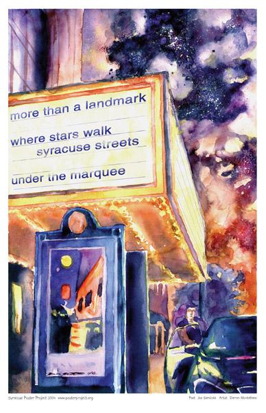 Art Poster, Syracuse, Landmark Theatre, Marquee