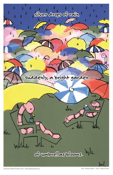 Art Poster, Syracuse, Garden, Rain